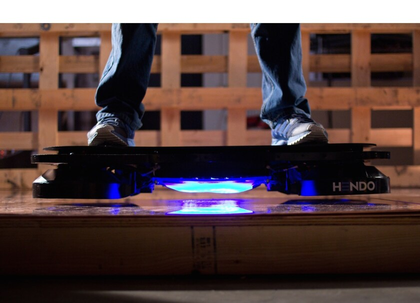 "A California technology company has created a real-life ""Back to the Future""-style hoverboard called the Hendo. The company, founded by a husband-wife team, has begun a Kickstarter campaign."
