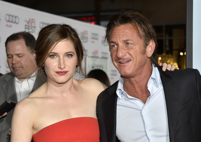"Actors Kathryn Hahn and Sean Penn attend ""The Secret Life Of Walter Mitty"" premiere during the AFI Fest."