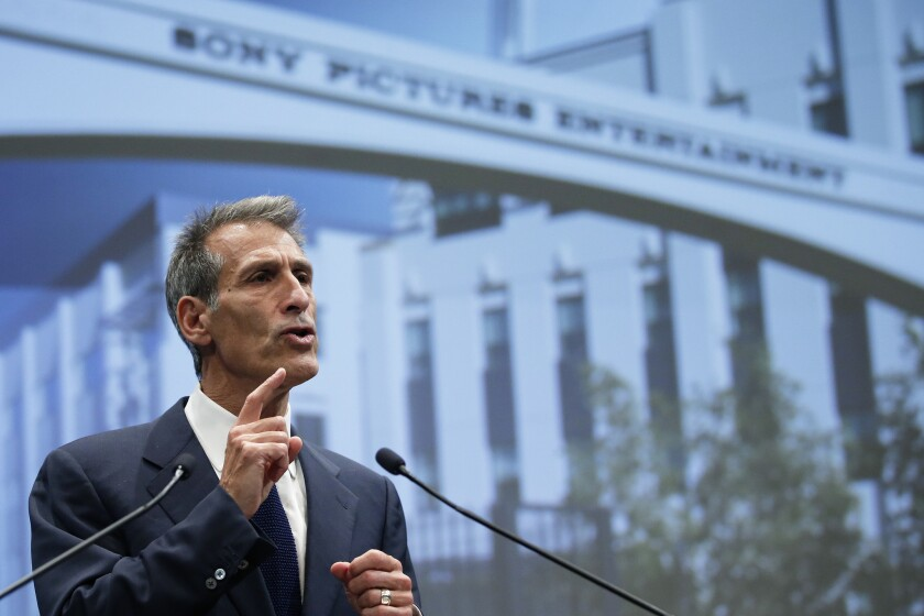 Michael Lynton, chief executive of Sony Pictures Entertainment, assured employees that the company would survive.