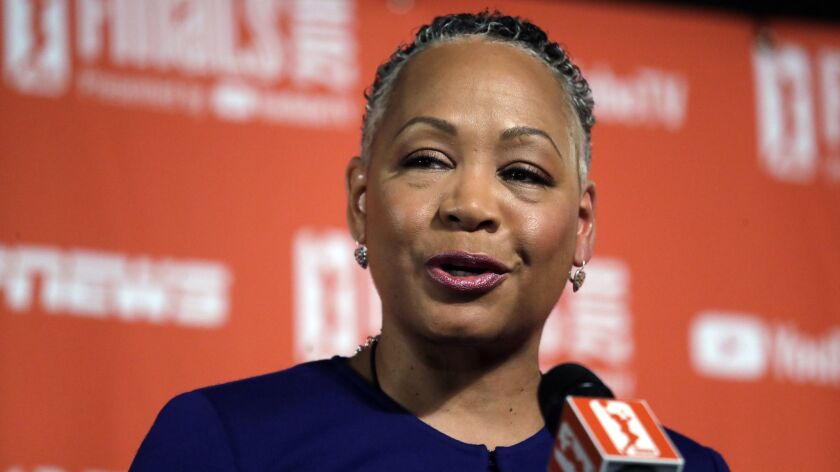 Former WNBA president Lisa Borders has been named Time's Up's first president and CEO.