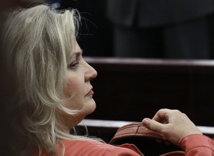 A Texas judge has dismissed the last remaining charge against Sandra Merritt, shown Feb. 3 in a Houston courtroom, in a case involving undercover Planned Parenthood videos.