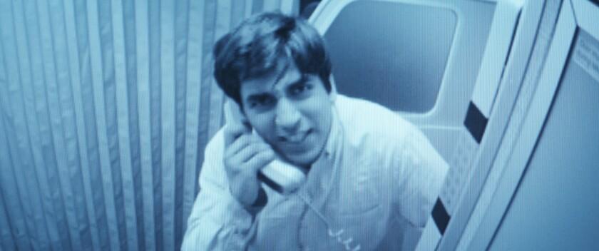 """Omid Memar in the movie """"7500."""""""