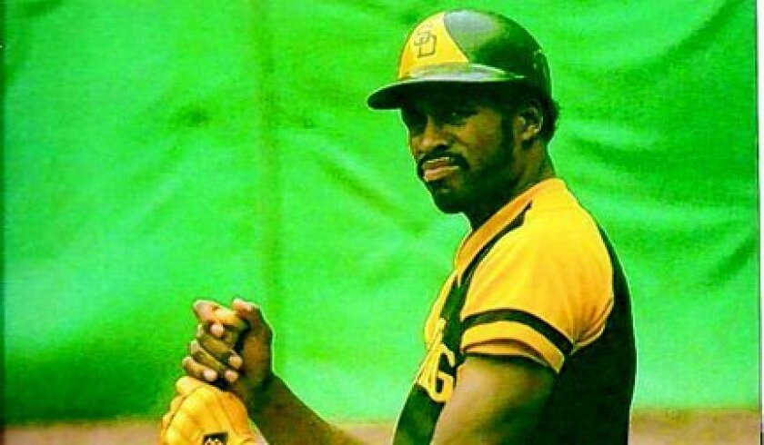 Dave Winfield, pictured in 1977 with the Padres.