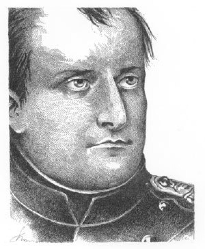 Napoleon Bonaparte, born in 1769, died in 1821.