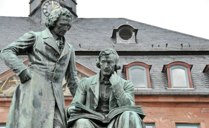 The Brothers Grimm were born in Hanau, where a statue commemorates them.