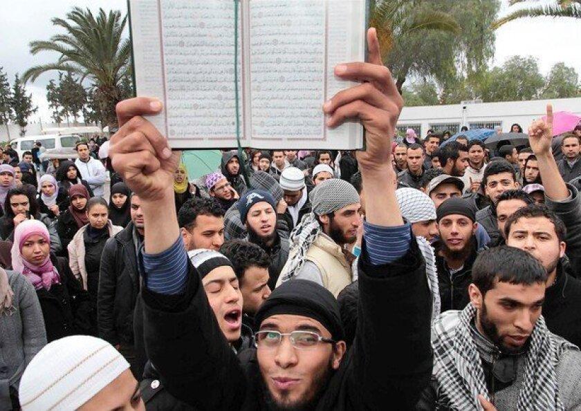 Tunisia democratic activists fear a tilt toward militant Islam