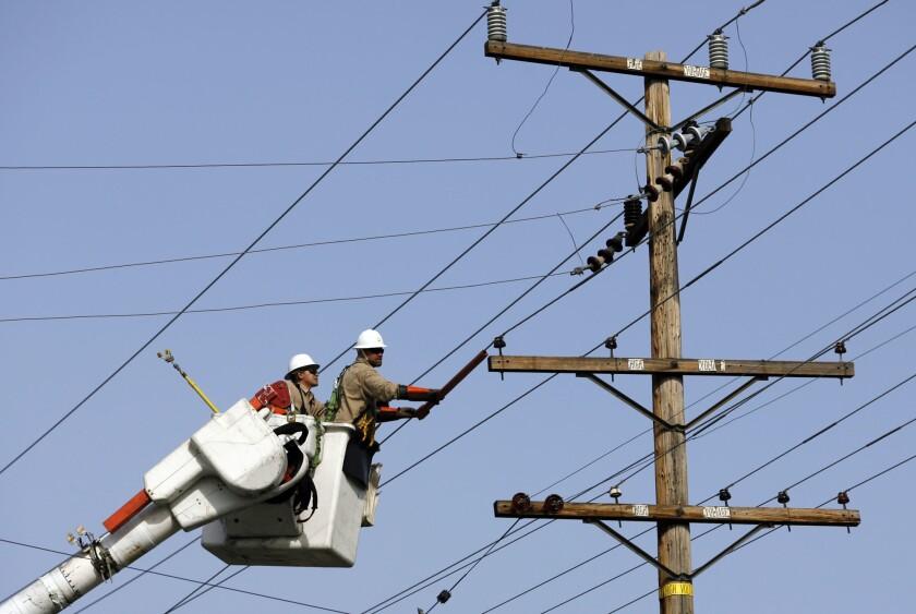 Southern California Edison work crew