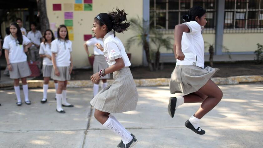 Students play at recess in Acapulco.