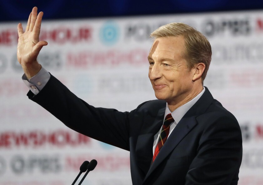 Democratic presidential candidate and businessman Tom Steyer.