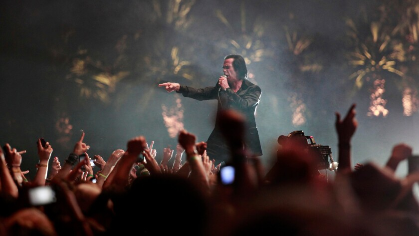 Nick Cave performs at Coachella in 2013.