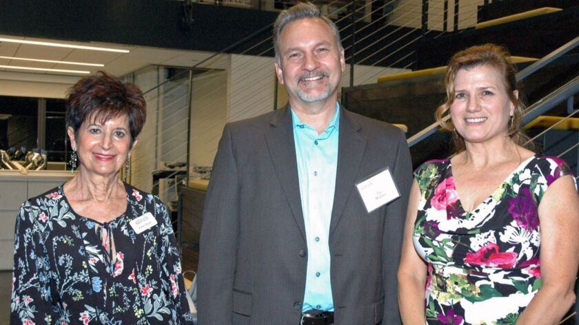 Ascencia board member Karen Swan, from left, with Lee Wochner, past chair of the Community Foundation of the Verdugos; and Ascencia Executive Director Natalie Profant Komuro during a recent friendship reception in Glendale.