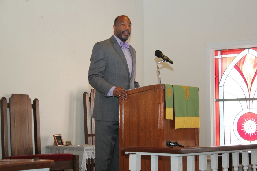 Prince Chapel's pastor, Rev. Chuck Norris