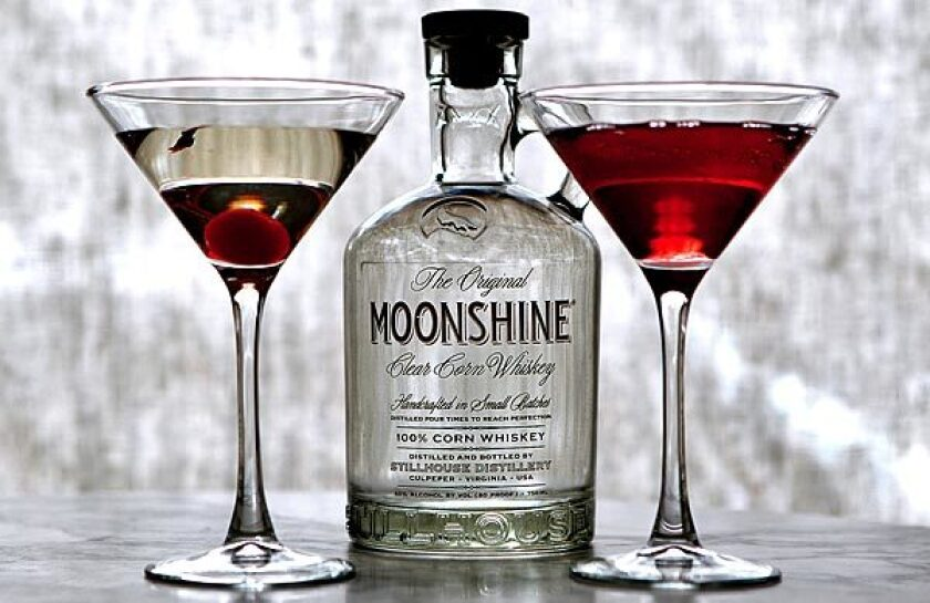Cecconi's moonshine drinks include a Moonhattan and a pomegranate Moontini.