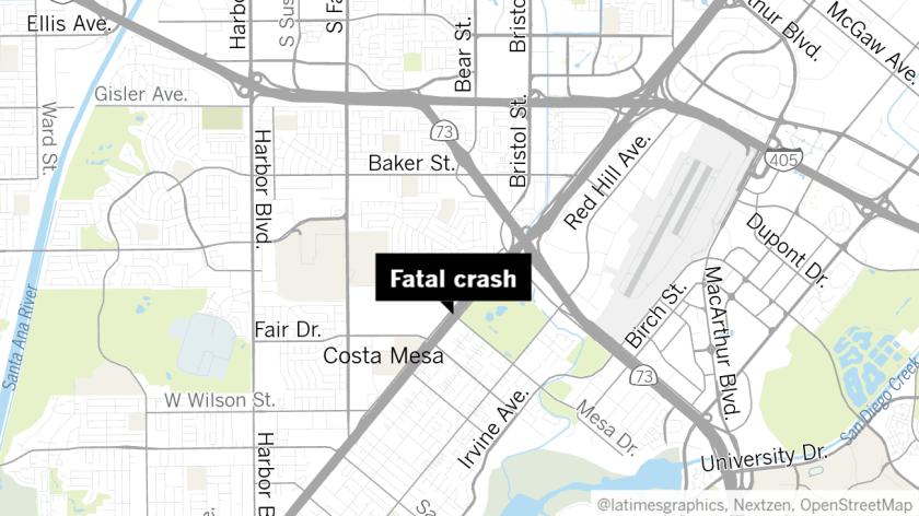 Woman dies in fiery crash on 55 Freeway in Costa Mesa