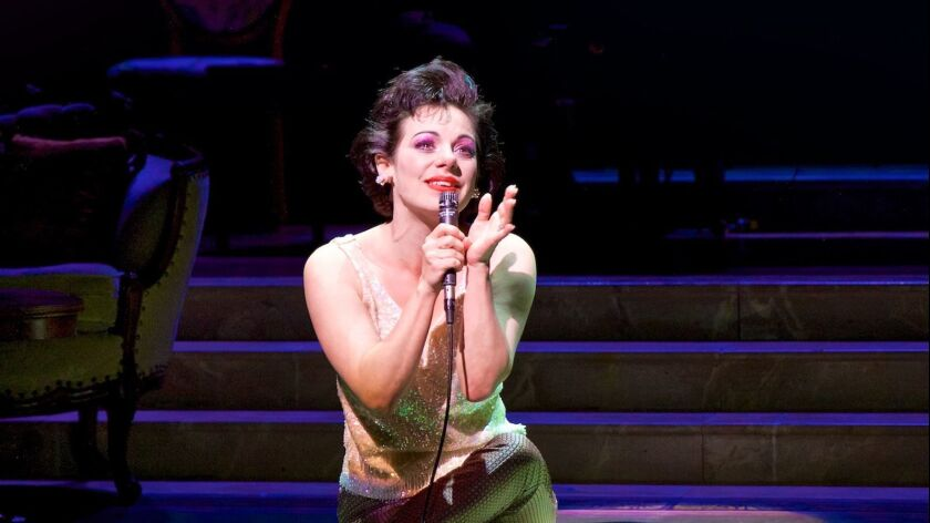 """Angela Ingersoll reprises her role as Judy Garland in the bio-musical """"End of the Rainbow,"""" coming to Laguna Playhouse."""