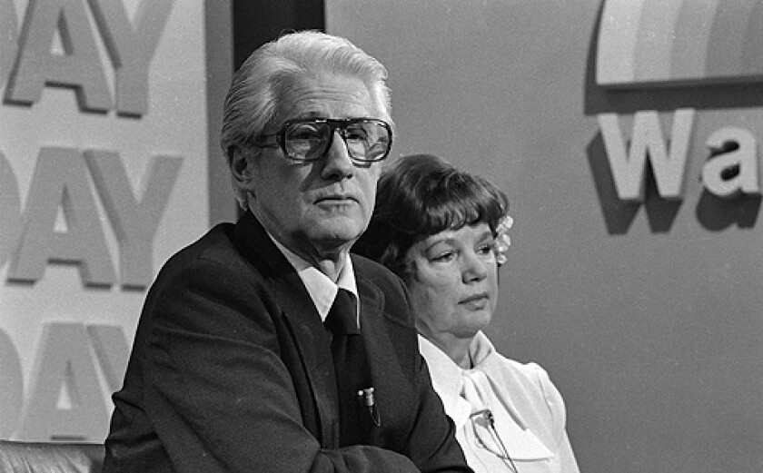 """Former Associate FBI Director W. Mark Felt, and his wife Audrey, appear on NBC's """"TODAY"""" television show in Washington, D.C. in this Tuesday, April 11, 1978 file photo."""