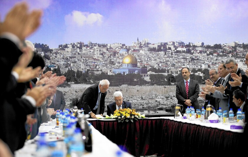 Abbas to press statehood issue