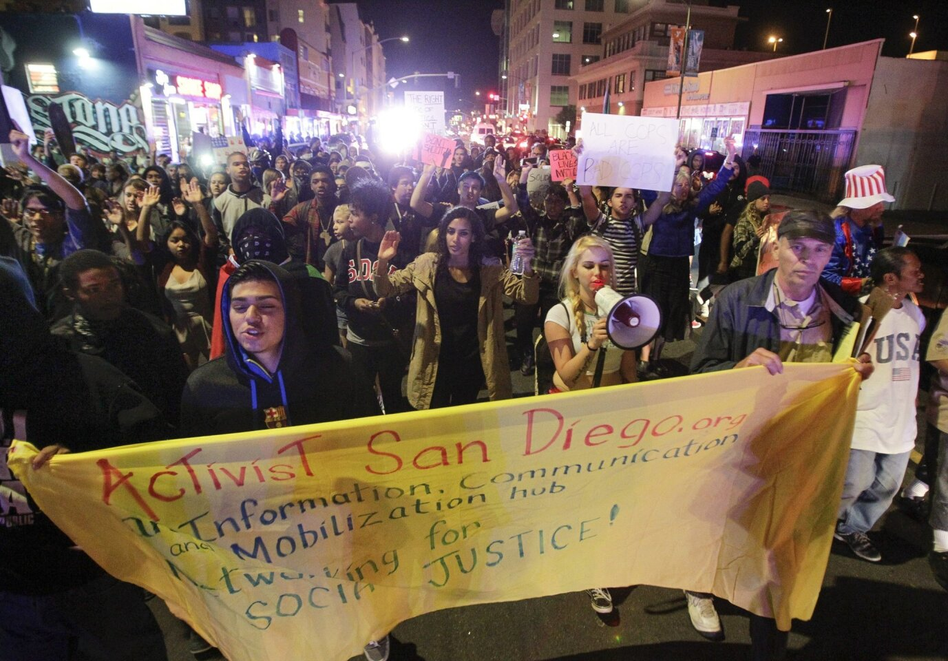 Second Night of Demonstrations