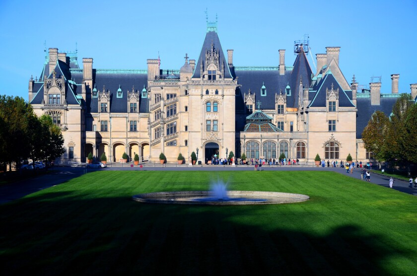 The Biltmore Estate in Asheville, N.C., is a popular stop near the Blue Ridge Parkway.