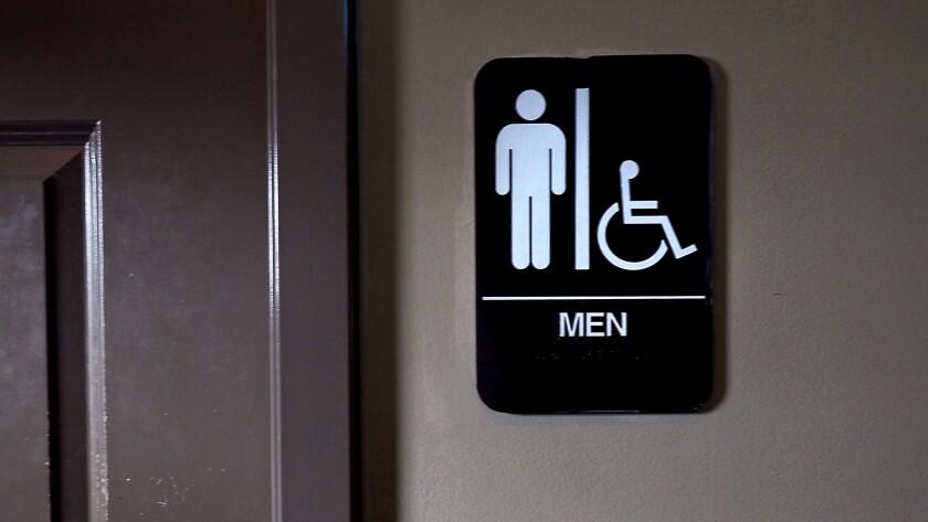 A private men's bathroom in Bull McCabes Irish Pub in Durham, N.C.