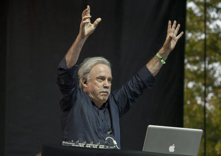 Giorgio Moroder performs at the 2014 Pitchfork Music Festival in Chicago. A legendary artist who has won  Academy Awards and Grammys, Moroder says he finally feels like an artist, now that he is a live DJ. His first solo album in several decades features Sia, Kylie Minogue, Britney Spears and more,