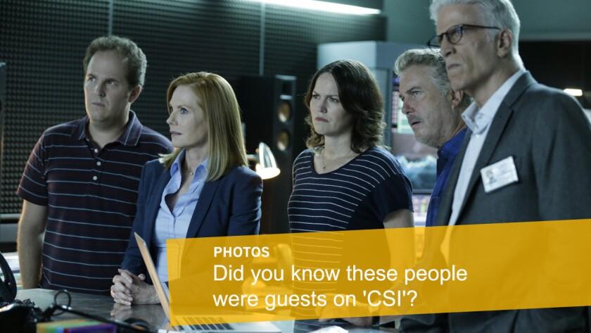 'CSI: Crime Scene Investigation' guest stars