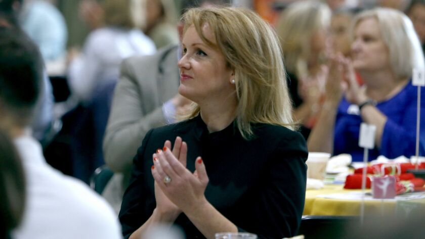 Crescenta Valley High School principal Dr. Linda Gubler Junge attended the Glendale Unified School D