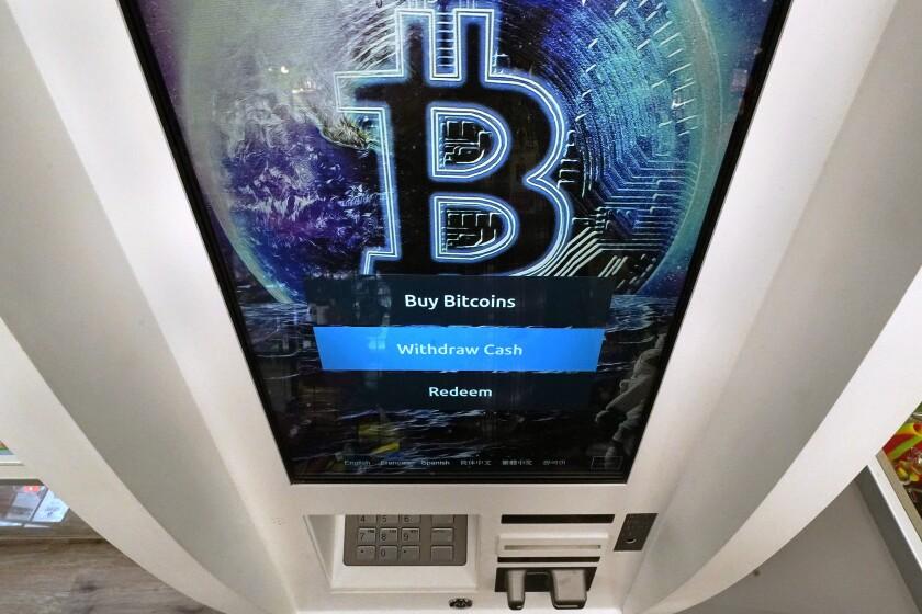 A bitcoin ATM in Salem, N.H.