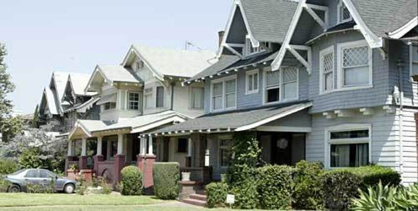 Harvard Heights' Craftsman-style homes, built between 1902 and 1910, were designed for upscale buyers.