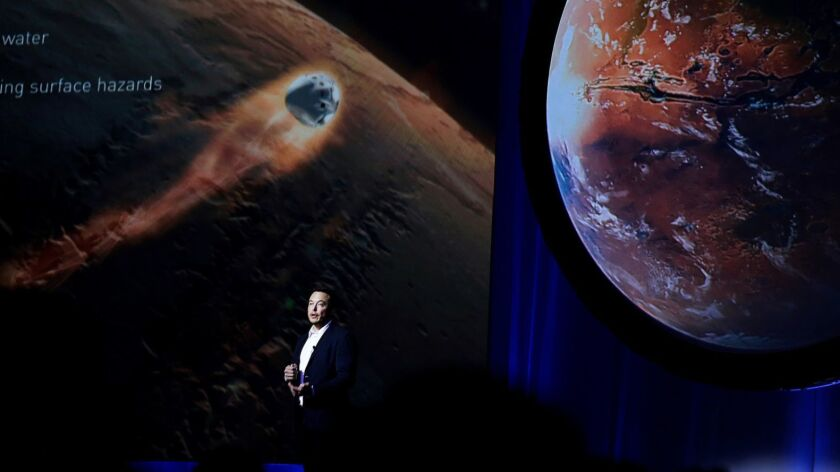 Elon Musk, chief executive for SpaceX, speaks during the 67th International Astronautical Congress in Guadalajara, Mexico, in September 2016.