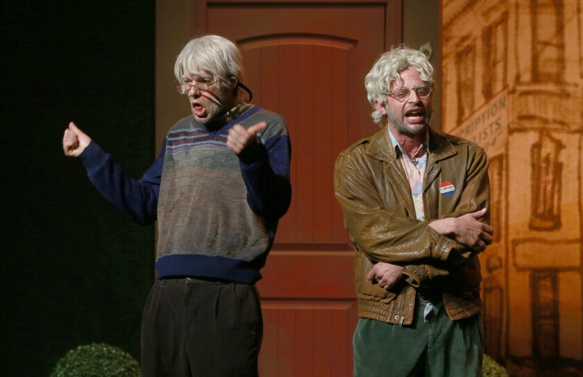 "John Mulaney and Nick Kroll in ""Oh, Hello."""