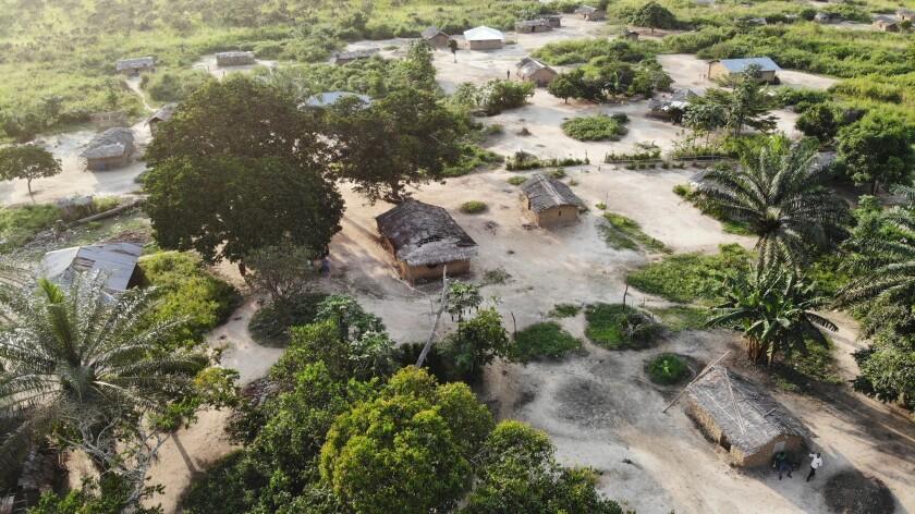 The village of Nkala, Congo.