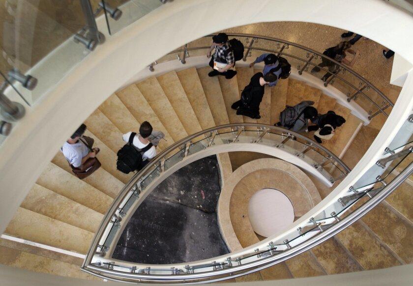 A 2011 scene from the Thomas Jefferson School of Law in San Diego. / photo by Howard Lipin * U-T