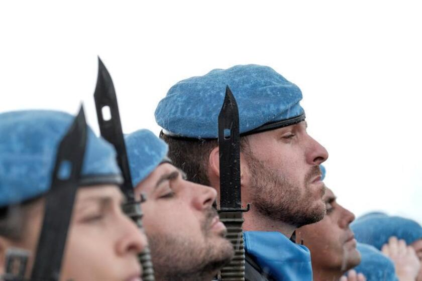 La ONU prorrogó hoy por un año más su misión de paz en el Líbano (Finul), sin introducir grandes cambios en su mandato. EFE/ARCHIVO