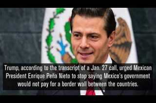 Trump's call with Mexican President Enrique Peña Nieto