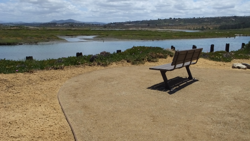 The River Path provides a scenic view of the San Dieguito Lagoon and River.