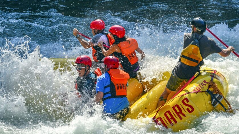 On a three-day whitewater rafting trip down the Tuolumne River near Yosemite National Park last summ