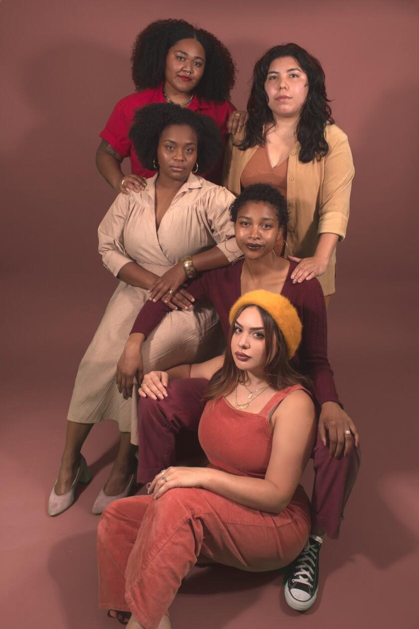 Delana Delgado, Dinah Poellnitz, Alofa Gould, Astrid Gonzalez and Desiree Poellnitz