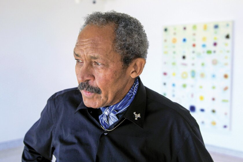 Artist Jack Whitten at the Museum of Contemporary Art San Diego.