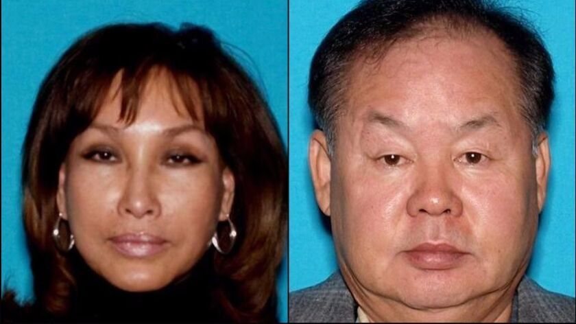 """Woo """"Stephanie"""" Kwon (L), indicted along with her husband Hyok """"Steven"""" Kwon (R) for a $7M insur"""
