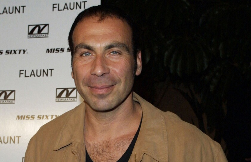 "Taylor Negron at the 2001 premiere of ""Donnie Darko"" at the Egyptian Theatre in Hollywood. The actor, comedian and playwright died Saturday at age 57."