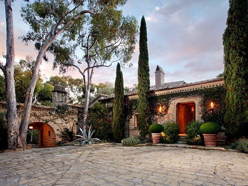 The rebuilt Montecito estate, originally constructed in the 1920s, is listed at $24.5 million.