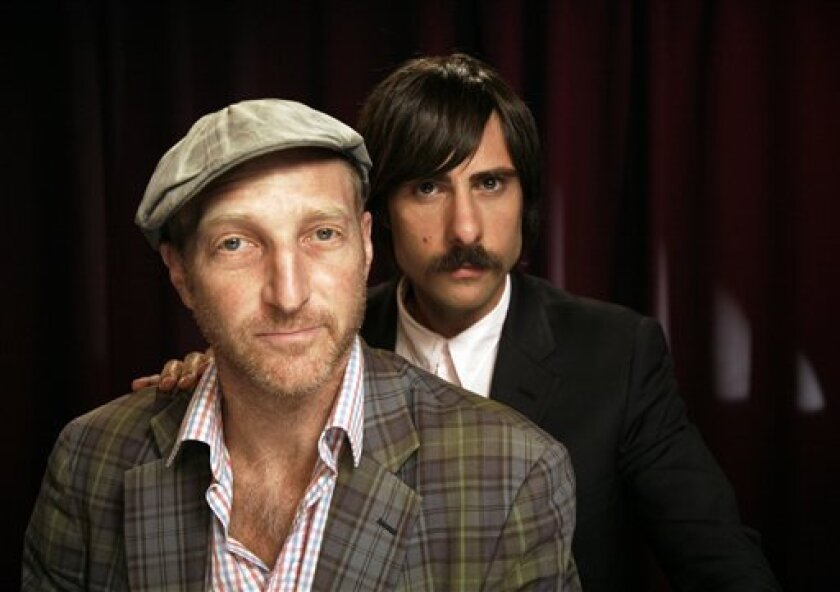 Actor Jason Schwartzman, right, and producer Jonathan Ames pose for a portrait Tuesday, Sept. 21, 2010 in New York. (AP Photo/Jeff Christensen)