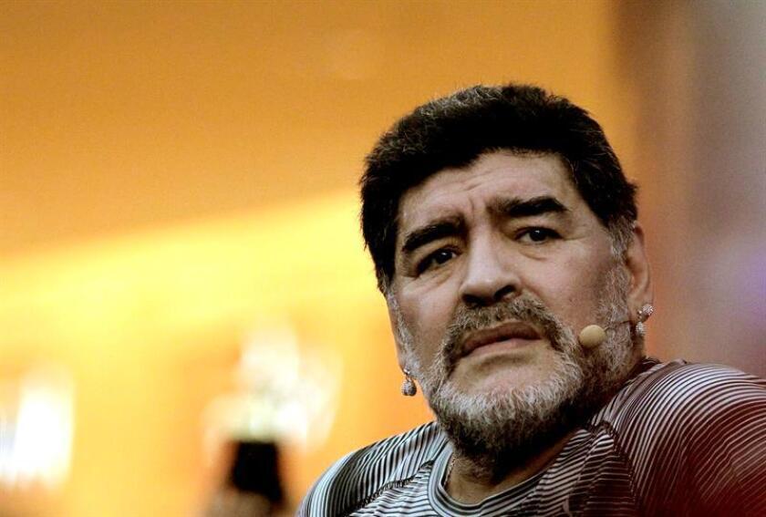 En la imagen, Diego Maradona, entrenador de los Dorados de Sinaloa de la Segunda División del fútbol mexicano. EFE/Archivo