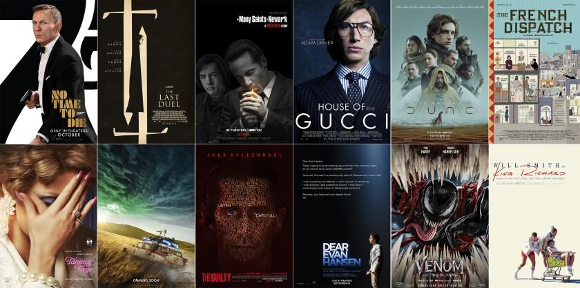 En esta combinación de fotos, el arte promocional de las películas de próximo estreno