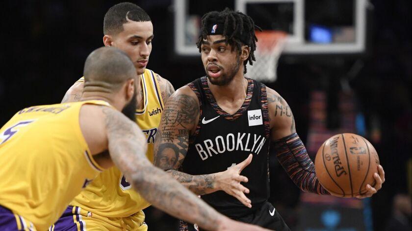 Los Angeles Lakers v Brooklyn Nets