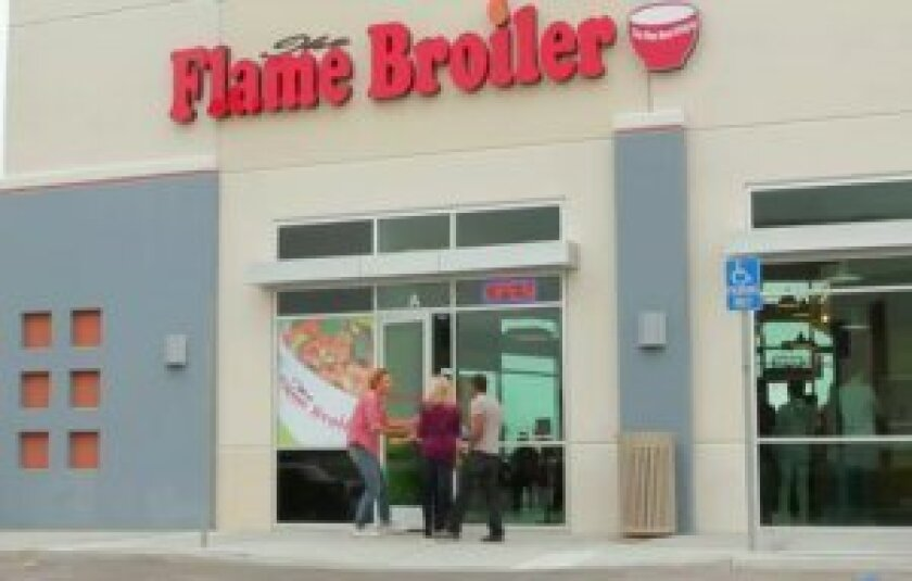 The Flame Broiler restaurant in La Jolla was robbed at gunpoint about 9 p.m. May 23.