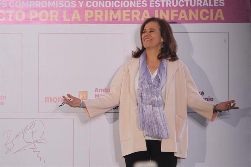 Margarita Zavala, candidata independiente a la presidencia de la República, participa en un foro. EFE/Archivo