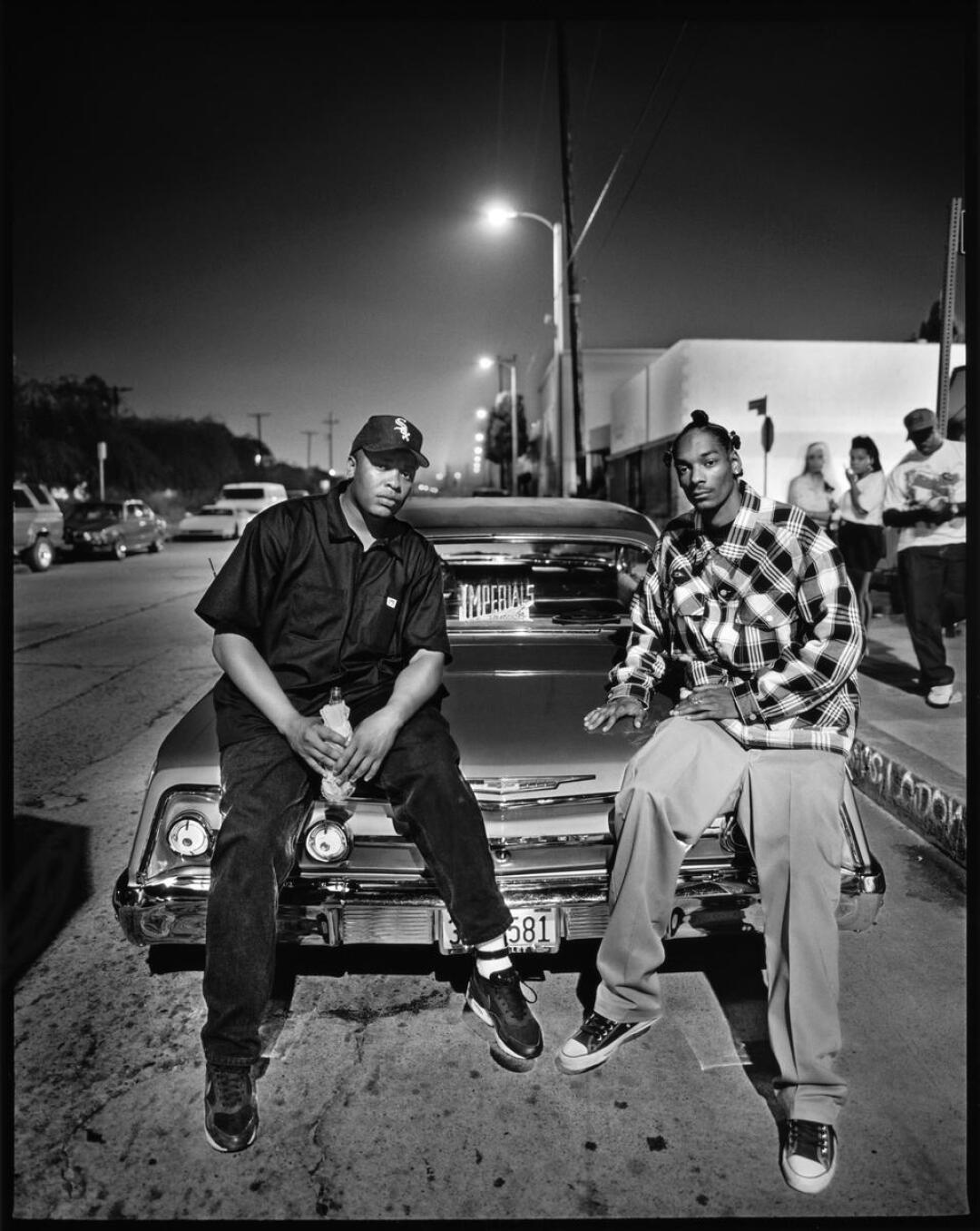 Dr. Dre, left, and Snoop Dogg, photographed on Aug. 2, 1993, in Compton, for the September 1993 issue of Rolling Stone.
