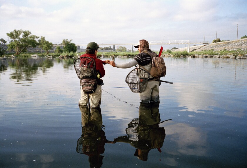 Fishing the Los Angeles River